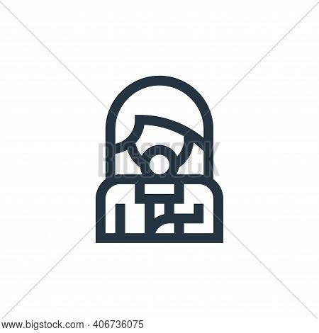 reporter icon isolated on white background from news collection. reporter icon thin line outline lin