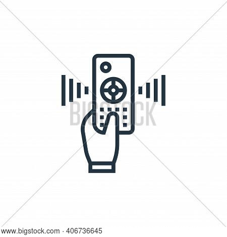 remote control icon isolated on white background from cinema collection. remote control icon thin li