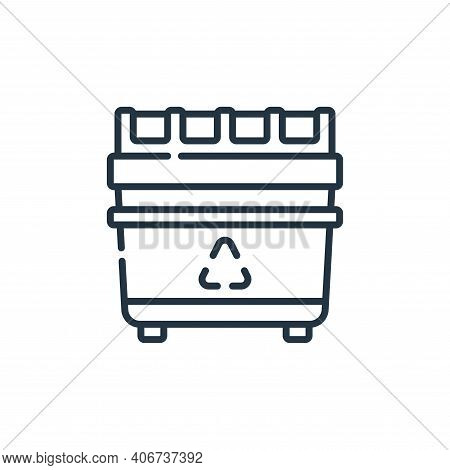 recycling bin icon isolated on white background from plastic products collection. recycling bin icon