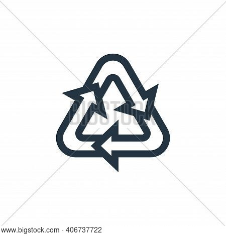 recycle icon isolated on white background from mother earth day collection. recycle icon thin line o