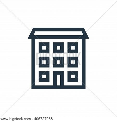 real state icon isolated on white background from insurance collection. real state icon thin line ou