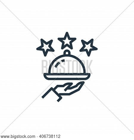 rating icon isolated on white background from food delivery collection. rating icon thin line outlin
