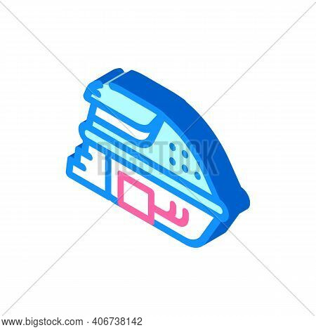 Deprivation Chamber, Floating Capsule Isometric Icon Vector Illustration