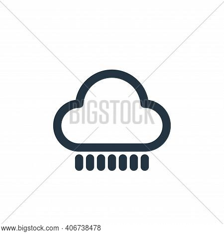 rainy icon isolated on white background from holiday collection. rainy icon thin line outline linear