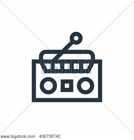 radio icon isolated on white background from hippies collection. radio icon thin line outline linear