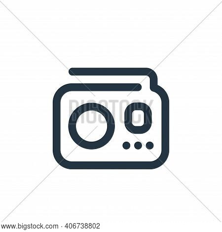 radio icon isolated on white background from sound collection. radio icon thin line outline linear r