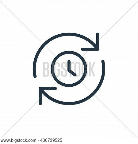 queue icon isolated on white background from data transfer collection. queue icon thin line outline