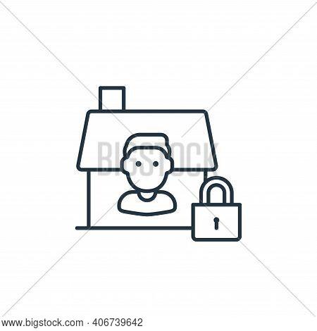 quarantine icon isolated on white background from coronavirus collection. quarantine icon thin line