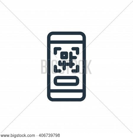 qr code icon isolated on white background from ecommerce collection. qr code icon thin line outline