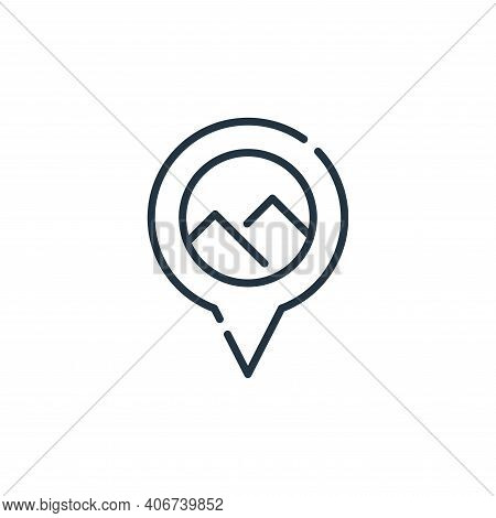 pyramids icon isolated on white background from desert collection. pyramids icon thin line outline l