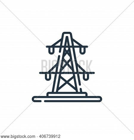 pylon icon isolated on white background from electrician tools and elements collection. pylon icon t