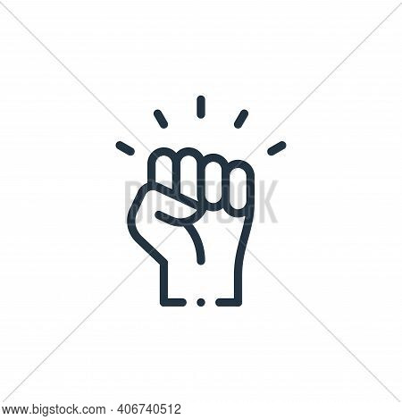 protest icon isolated on white background from world love collection. protest icon thin line outline