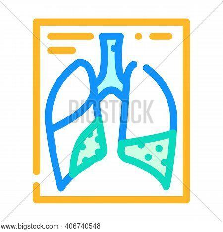 Complications Or Pneumonia Color Icon Vector Illustration