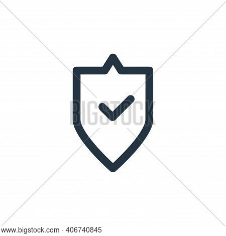 protection icon isolated on white background from computer hardware collection. protection icon thin