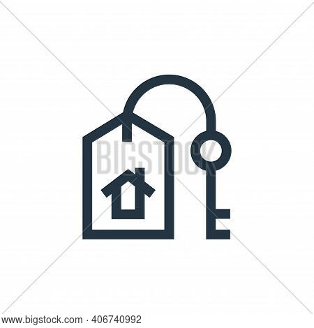 property icon isolated on white background from real estate collection. property icon thin line outl