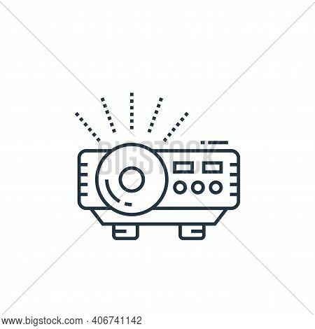 projector icon isolated on white background from technology devices collection. projector icon thin