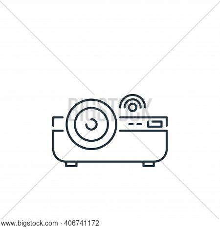 projector icon isolated on white background from internet of things collection. projector icon thin