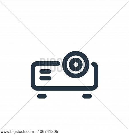 projector icon isolated on white background from video collection. projector icon thin line outline