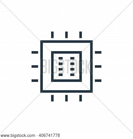 processor icon isolated on white background from hardware collection. processor icon thin line outli