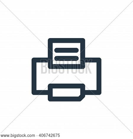 printer icon isolated on white background from multimedia collection. printer icon thin line outline