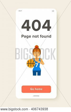 Female Basketball Player With Ball. Basketball Player, Sport Game, Leisure Activity. Basketball Game