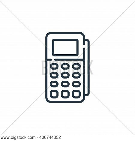 pos icon isolated on white background from mall collection. pos icon thin line outline linear pos sy