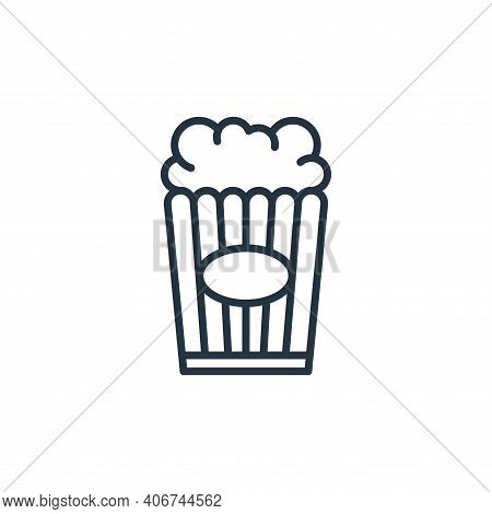 popcorn icon isolated on white background from circus collection. popcorn icon thin line outline lin