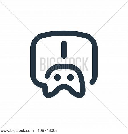 play icon isolated on white background from stay at home collection. play icon thin line outline lin
