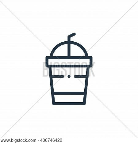 plastic cup icon isolated on white background from plastic products collection. plastic cup icon thi