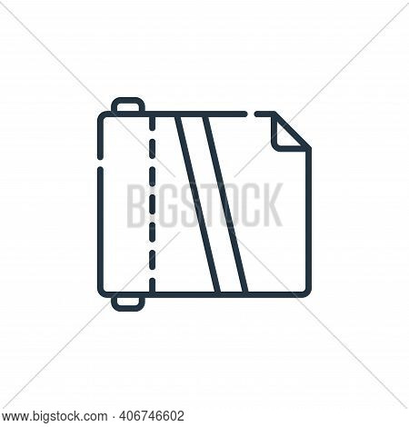 plastic icon isolated on white background from plastic products collection. plastic icon thin line o