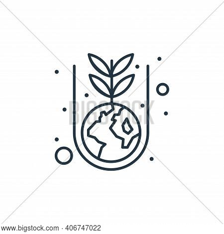 plant icon isolated on white background from earth day collection. plant icon thin line outline line