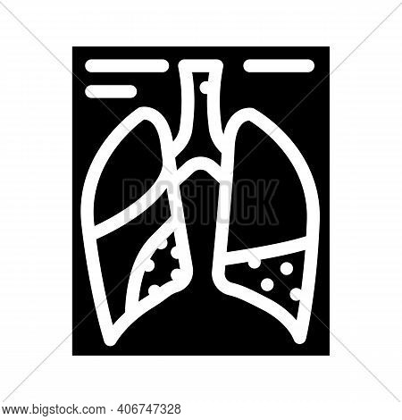 Complications Or Pneumonia Glyph Icon Vector Illustration