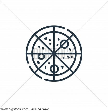 pizza icon isolated on white background from celebration collection. pizza icon thin line outline li