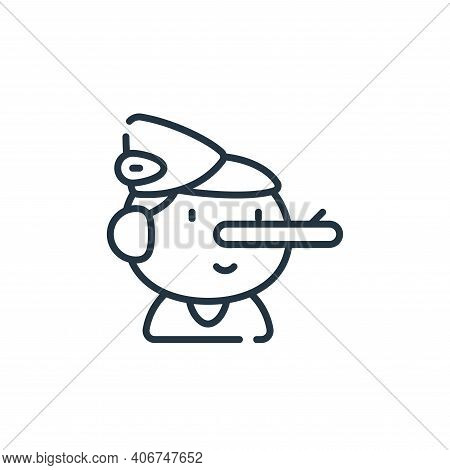 pinocchio icon isolated on white background from italy collection. pinocchio icon thin line outline