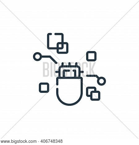 pill icon isolated on white background from robotics collection. pill icon thin line outline linear