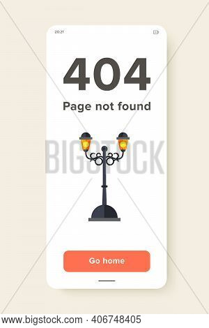Vector Icon Of Forged Outdoor Street Lamp. Park, Street, Decorative Element. Iron Works Concept. Can