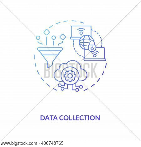 Data Collection Concept Icon. M2m Communication Type Idea Thin Line Illustration. Performing Prevent