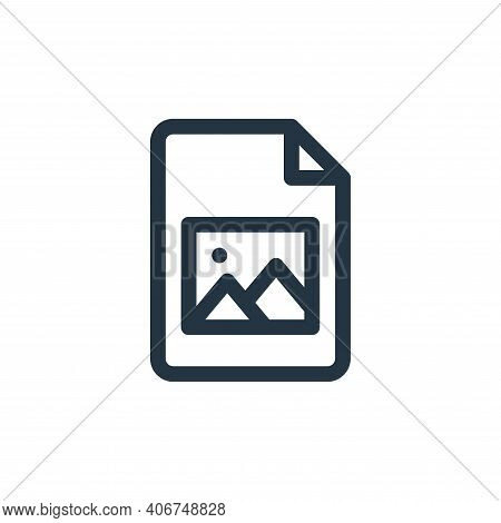 picture icon isolated on white background from document and files collection. picture icon thin line