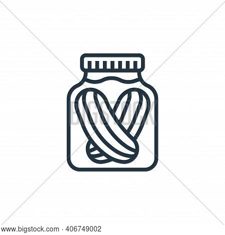 pickles icon isolated on white background from seafood collection. pickles icon thin line outline li