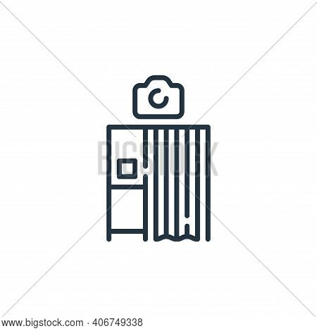 photo booth icon isolated on white background from mall collection. photo booth icon thin line outli