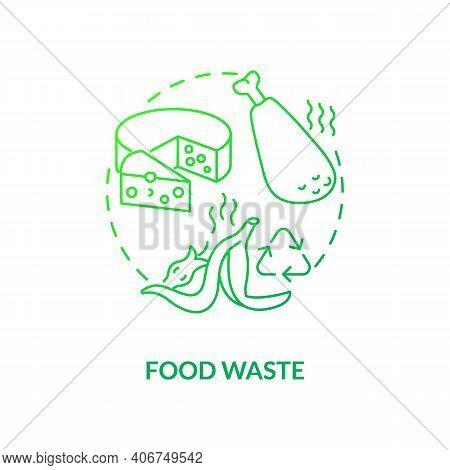 Food Waste Concept Icon. Organic Waste Type Idea Thin Line Illustration. Food Loss, Leftovers. Ferti