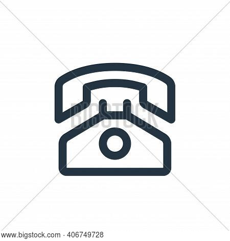 phone icon isolated on white background from user interface collection. phone icon thin line outline