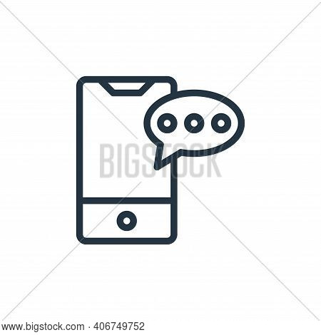phone icon isolated on white background from contact collection. phone icon thin line outline linear