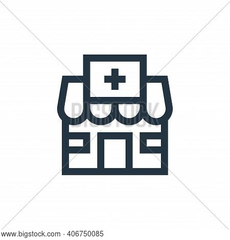 pharmacy icon isolated on white background from pharmacy collection. pharmacy icon thin line outline