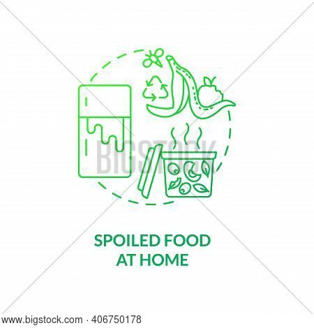 Spoiled Food At Home Concept Icon. Expired Products Idea Thin Line Illustration. Food Waste. Mushy A