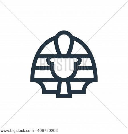 Pharaoh icon isolated on white background from history collection. Pharaoh icon thin line outline li