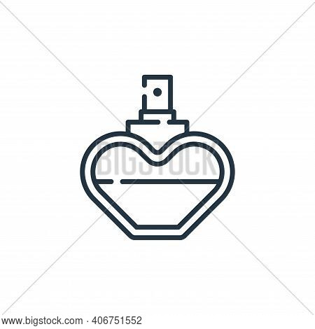 perfume icon isolated on white background from fame collection. perfume icon thin line outline linea
