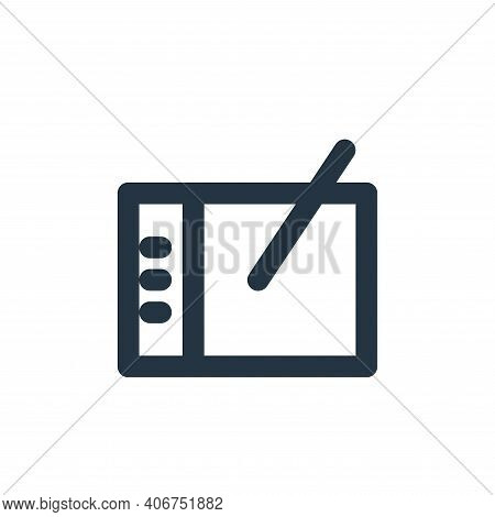 pen tablet icon isolated on white background from electronics collection. pen tablet icon thin line