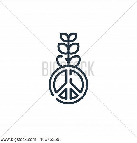 peace icon isolated on white background from hope collection. peace icon thin line outline linear pe