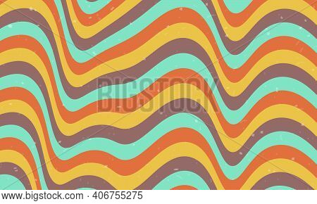 Psychedelic Groovy Background.